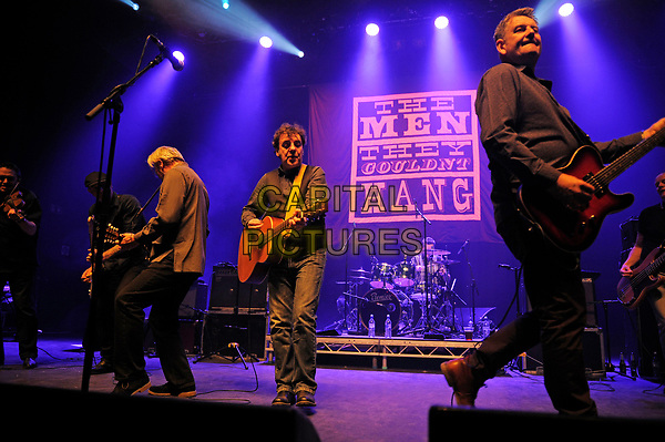 LONDON, ENGLAND - APRIL 15: Paul Simmonds, Phillip Odgers and Stefan Cush of 'The Men They Couldn't Hang' performing at Shepherd's Bush Empire on April 15, 2017 in London, England.<br /> CAP/MAR<br /> &copy;MAR/Capital Pictures