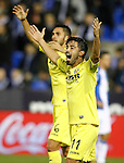 Villarreal CF's Jaume Costa (r) and Victor Ruiz during La Liga match. December 3,2016. (ALTERPHOTOS/Acero)