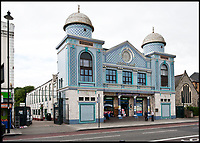 BNPS.co.uk (01202 558833)<br /> Pic: HistoricEngland/BNPS<br /> <br /> Aziziye Mosque in Hackney actually started life as a cinema in 1913.<br /> <br /> A new book from Historic England reveals the spread of Mosque building across Britain.<br /> <br /> The book provide a fascinating insight into the diversity of Britain's 1,500 mosques.<br /> <br /> They range from humble house conversions where small groups gather to magnificent purpose-built complexes which can accommodate thousands of worshippers.<br /> <br /> Architect Shahed Saleem, who has designed a mosque in Hackney, east London, has produced the first comprehensive overview of Islamic architecture on these shores in his new book, The British Mosque.