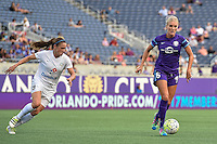 Orlando, FL - Saturday Sept. 24, 2016: Heather O'Reilly, Kaylyn Kyle during a regular season National Women's Soccer League (NWSL) match between the Orlando Pride and FC Kansas City at Camping World Stadium.