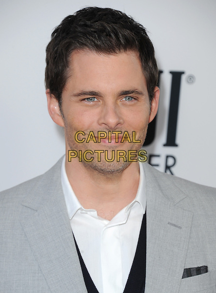 James Marsden<br /> &quot;Lee Daniels' The Butler&quot; Los Angeles Premiere held at Regal Cinemas L.A. Live, Los Angeles, California, USA.        <br /> August 12th, 2013    <br /> headshot portrait grey gray suit stubble facial hair white shirt <br /> CAP/DVS<br /> &copy;DVS/Capital Pictures