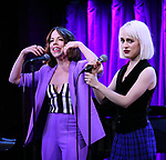 Leslie Kritzer and Sophia Anne Caruso during Broadway's 'Beetlejuice' - First Look Presentation at Subculture  on February 28, 2019 in New York City.