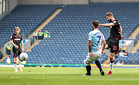 Bolton Wanderers' Luke Murphy shoots at goal <br /> <br /> Photographer Andrew Kearns/CameraSport<br /> <br /> The EFL Sky Bet Championship - Blackburn Rovers v Bolton Wanderers - Monday 22nd April 2019 - Ewood Park - Blackburn<br /> <br /> World Copyright © 2019 CameraSport. All rights reserved. 43 Linden Ave. Countesthorpe. Leicester. England. LE8 5PG - Tel: +44 (0) 116 277 4147 - admin@camerasport.com - www.camerasport.com