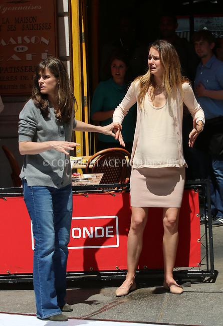 ACEPIXS.COM<br /> <br /> June 16 2014, New York City<br /> <br /> Actress Amanda Peet (L) was on the set of the new movie 'Sleeping with other peole' on June 16 2014 in New York City<br /> <br /> By Line: Zelig Shaul/ACE Pictures<br /> <br /> ACE Pictures, Inc.<br /> www.acepixs.com<br /> Email: info@acepixs.com<br /> Tel: 646 769 0430