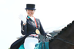 Akane Kuroki (JPN), <br /> AUGUST 20, 2018 - Equestrian : <br /> Dressage Team Medal ceremony <br /> at Jakarta International Equestrian Park <br /> during the 2018 Jakarta Palembang Asian Games <br /> in Jakarta, Indonesia. <br /> (Photo by Naoki Nishimura/AFLO SPORT)