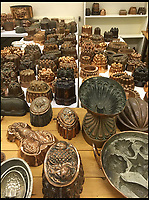 BNPs.co.uk (01202 558833)<br /> Pic: Bellmans/BNPS<br /> <br /> Mr Cottrell's collection.<br /> <br /> Jelly on a slate... an enormous collection of over 400 jelly moulds has emerged from the estate of a fanatical collector. <br /> <br /> Eccentric Andrew Cottrell dedicated his life to amassing an incredible 430 moulds, which he crammed into a specially dedicated room in his house. <br /> <br /> Accumulated throughout his life until his death at the age of 60 in 2015, the selection spans 100 years from the mid 19th century. <br /> <br /> Mr Cottrell's collection, worth an estimated &pound;30,000, will be sold by his four sons through Hampshire-based auctioneer Bellmans on July 12.
