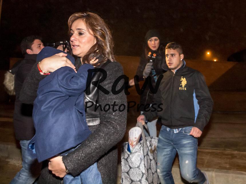 La familia de Jos&eacute; Ortega Cano le ha visitado en la c&aacute;rcel de Zuera.<br /> <br /> Jose Ortega Cano's family has visited him at Zuera prison.