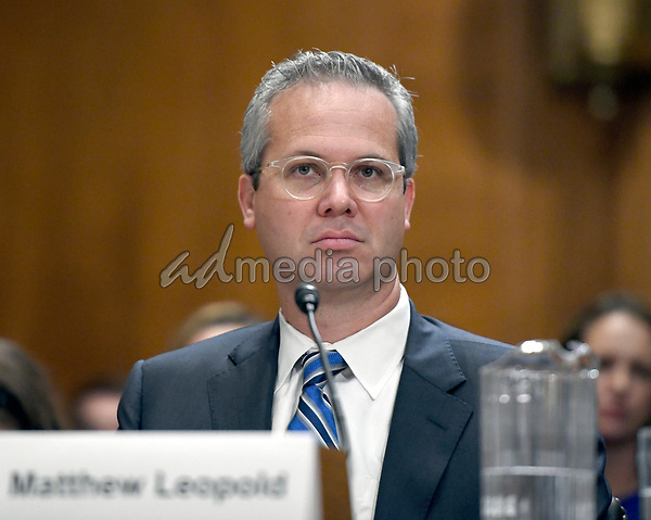 Matthew Leopold appears before the United States Senate Committee on Environment and Public Works to testify on his nomination as the assistant administrator for the Office of General Counsel at the Environmental Protection Agency (EPA) on Capitol Hill in Washington, DC on Wednesday, October 4, 2017. Photo Credit: Ron Sachs/CNP/AdMedia