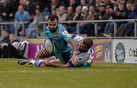 Exeter Chiefs' Tom O'Flaherty scores his sides fourth try<br /> <br /> Photographer Bob Bradford/CameraSport<br /> <br /> European Rugby Heineken Champions Cup Pool 2 - Exeter Chiefs v Castres - Sunday 13th January 2019 - Sandy Park - Exeter<br /> <br /> World Copyright &copy; 2019 CameraSport. All rights reserved. 43 Linden Ave. Countesthorpe. Leicester. England. LE8 5PG - Tel: +44 (0) 116 277 4147 - admin@camerasport.com - www.camerasport.com