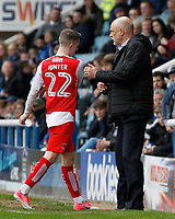 Fleetwood Town's Ashley Hunter cuts a frustrated figure after being substituted<br /> <br /> Photographer David Shipman/CameraSport<br /> <br /> The EFL Sky Bet League One - Peterborough United v Fleetwood Town - Friday 14th April 2016 - ABAX Stadium  - Peterborough<br /> <br /> World Copyright &copy; 2017 CameraSport. All rights reserved. 43 Linden Ave. Countesthorpe. Leicester. England. LE8 5PG - Tel: +44 (0) 116 277 4147 - admin@camerasport.com - www.camerasport.com