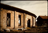 Abandoned Alamosa roundhouse.<br /> D&amp;RGW  Alamosa, CO