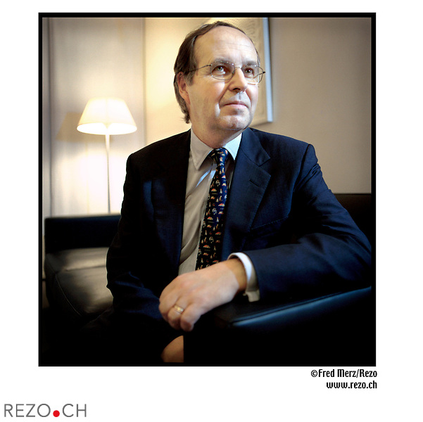 FM00786 / Rolf Banz, chief investment architect a la banque Pictet...Geneve, Novembre 02...©Fred Merz/Rezo