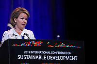 NOVA YORK EUA, 25.09.2019 - POLITICA-EUA - Rainha Matilde da Bélgica durante Conferência Internacional sobre Desenvolvimento Sustentável na cidade de Nova York nesta quarta-feira, 25. (Foto: Vanessa Carvalho/Brazil Photo Press)