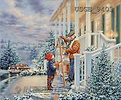 Dona Gelsinger, CHRISTMAS CHILDREN, paintings, man, boy, house(USGE9403,#XK#)