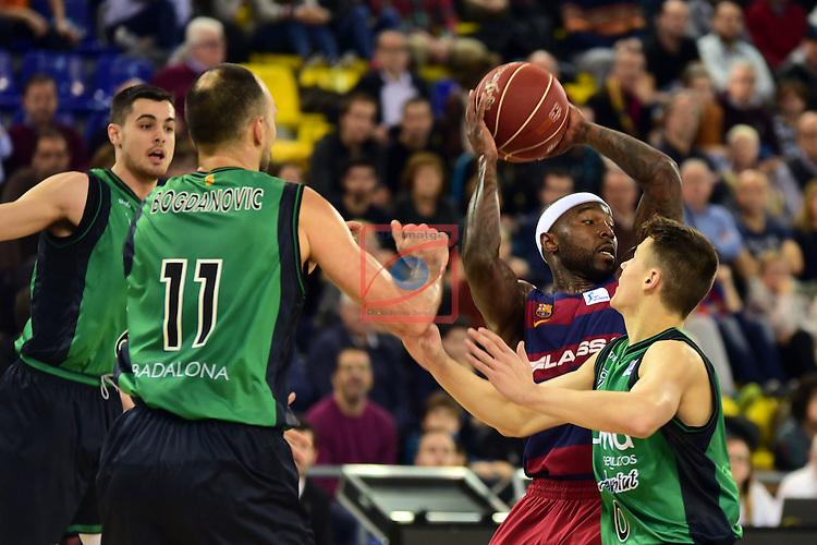 League ACB-ENDESA 2016/2017 - Game: 13.<br /> FC Barcelona Lassa vs Divina seguros Joventut: 79-77.<br /> Bogdanovic, Tyrese Rice &amp; Dimitrijevic.