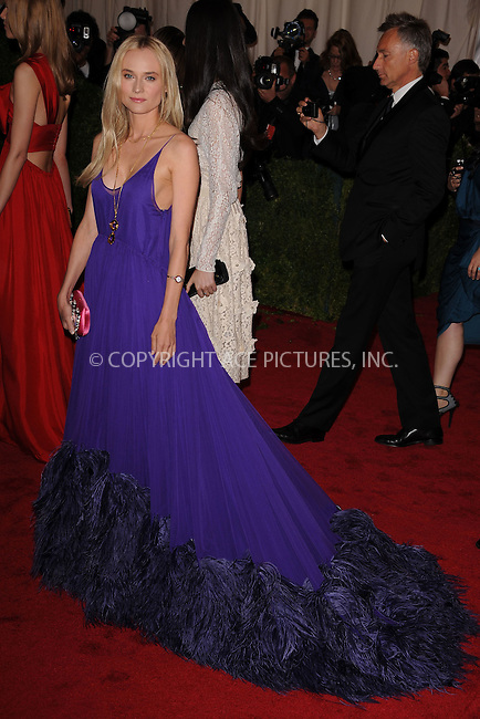 "WWW.ACEPIXS.COM . . . . . .May 7, 2012...New York City....Diane Kruger attending the ""Schiaparelli and Prada: Impossible Conversations"" Costume Institute Gala at The Metropolitan Museum of Art in New York City on May 7, 2012  in New York City ....Please byline: KRISTIN CALLAHAN - ACEPIXS.COM.. . . . . . ..Ace Pictures, Inc: ..tel: (212) 243 8787 or (646) 769 0430..e-mail: info@acepixs.com..web: http://www.acepixs.com ."
