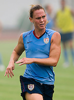 Christie Rampone. The USWNT practiced at Beijing Normal University in Beijing, China.  The team will now move to Qinhuangdao to prepare for their first two group games of the 2008 Olympics.