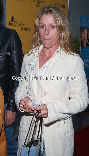Frances McDormand arriving at The IFP/West Los Angeles Film Festival premiere of Lovely & Amazing at the Arclight Cinerama dome in Los Angeles. June 20, 2002.          -            McDormandFrances02A.jpg