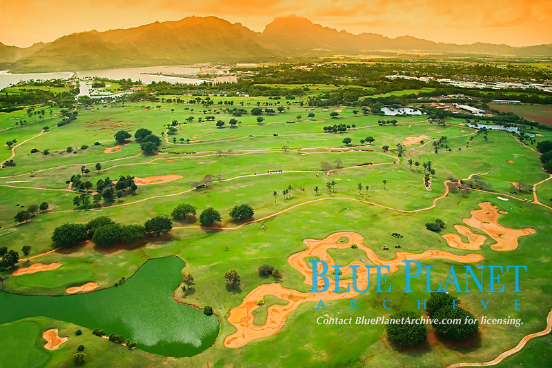 Mokihana Golf Course of Kaua`i Marriott Hotel, Lihu`e, Kauai, Hawaii, Pacific Ocean