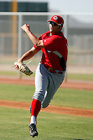 Derrick Lowery - Cincinnati Reds 2009 Instructional League. .Photo by:  Bill Mitchell/Four Seam Images..