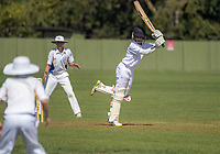 Action from the Junior NZ Secondary School Cricket Boys' Championship Finals match between St John's College and St Kentigern College at Manawaroa Park in Palmerston North, New Zealand on Friday, 23 March 2018.. Photo: Dave Lintott / lintottphoto.co.nz