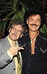 D.C. Larve poses with Randy Jones (Village People) celebrates his marriage (this morning September 13, 2013) with a celebration at the 13th Annual Kings & Cowboys at DL in New York City, New York. Randy is also celebrating his birthday.  (Photo by Sue Coflin/Max Photos)