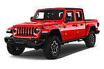 2020 Jeep Gladiator Rubicon 4 Door Pick Up angular front stock photos of front three quarter view