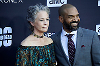 """LOS ANGELES - OCT 22:  Melissa McBride, Khary Peyton at the """"The Walking Dead"""" 100th Episode Celebration at the Greek Theater on October 22, 2017 in Los Angeles, CA"""