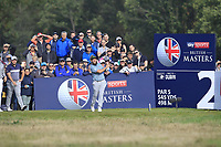 Andrew Johnston (ENG) on the 2nd tee during Round 3 of the Sky Sports British Masters at Walton Heath Golf Club in Tadworth, Surrey, England on Saturday 13th Oct 2018.<br /> Picture:  Thos Caffrey | Golffile