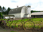 Dahmen Barn with Wagonwheel fence, Uniontown, Washinigton