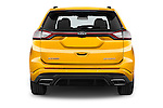 Straight rear view of 2017 Ford Edge Sport-4wd 5 Door Suv Rear View  stock images