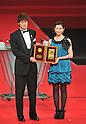 (L to R) Hiroki Sakai (Reysol), Rika Adachi, DECEMBER 5, 2011 - Football : 2011 J.League Awards at Yokohama Arena, Kanagawa, Japan. (Photo by Atsushi Tomura/AFLO SPORT) [1035]