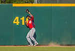 7 March 2013: Washington Nationals outfielder Michael Taylor pulls in a deep fly during a Spring Training game against the Houston Astros at Osceola County Stadium in Kissimmee, Florida. The Astros defeated the Nationals 4-2 in Grapefruit League play. Mandatory Credit: Ed Wolfstein Photo *** RAW (NEF) Image File Available ***