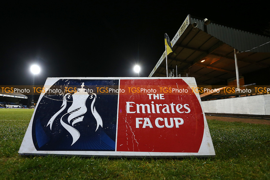 Emirates FA Cup signage ahead of Cambridge United vs Leeds United, Emirates FA Cup Football at the Cambs Glass Stadium on 9th January 2017