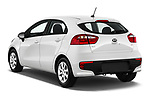 Car pictures of rear three quarter view of 2016 KIA Rio LX 5 Door Hatchback Angular Rear
