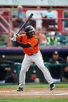 Bowie Baysox designated hitter Quincy Latimore (22) during a game against the Erie SeaWolves on May 12, 2016 at Jerry Uht Park in Erie, Pennsylvania.  Bowie defeated Erie 6-5.  (Mike Janes/Four Seam Images)