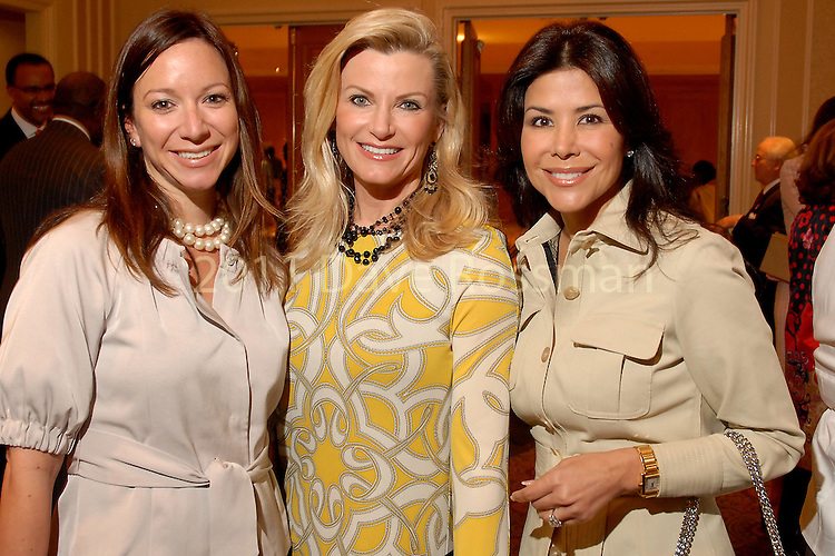 Tama Klosek, Rhonda Farr and Ericka Bagwell at the Houston Chronicle Best Dressed luncheon at the Westin Galleria Hotel  Monday March 10,2008.(Dave Rossman/For the Chronicle)