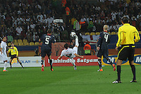 England's Frank Lampard tries a bicycle kick shot on goal during his team's match with the U.S. in their debut match of the 2010 FIFA World Cup. The U.S. and England played to a 1-1 draw in the opening match of Group C play at Rustenburg's Royal Bafokeng Stadium, Saturday, June 12th.