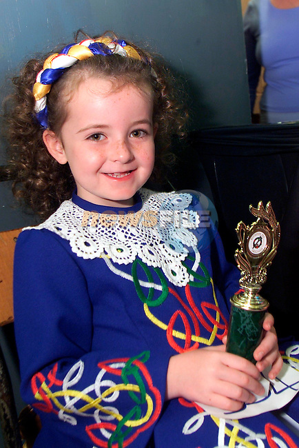 Niamh Ellen Wallace, pictured at the Boyneside feis on Sunday where she won a medal..Picture: Arthur Carron/Newsfile