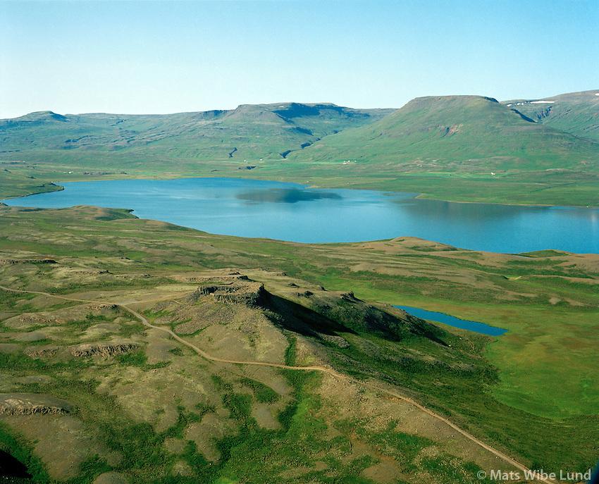 Borgarvirki séð til suðurs, Húnaþing vestra áður Þverárhreppur / Borgarvirki - old fortress viewing south, Hunathing vestra former Thverarhreppur.
