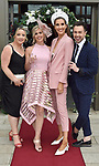 """Jane Prendeville, Marina O""""Shea, Lispole, Clementine Mac Niece,  and Mark Rogers pictured at the Killarney Apres Races party in The Brehon Hotel, Killarney on Thursday night.<br /> Photo: Don MacMonagle<br /> <br /> repro free photo<br /> further info: Aoife O'Donoghue aoife.odonoghue@gleneaglehotel.com"""