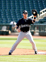 Mike Carp -  Seattle Mariners - 2009 spring training.Photo by:  Bill Mitchell/Four Seam Images