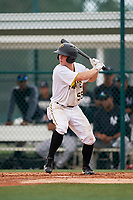 GCL Pirates second baseman Matt Morrow (55) at bat during the second game of a doubleheader against the GCL Yankees East on July 31, 2018 at Pirate City Complex in Bradenton, Florida.  GCL Pirates defeated GCL Yankees East 12-4.  (Mike Janes/Four Seam Images)