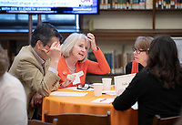 Campaign Co-chair Anne Wilson Cannon '74 worked with fellow Oxy leaders to craft her personal story. <br /> Occidental College launched the public phase of the Oxy Campaign For Good, a comprehensive effort to raise $225 million to strengthen its financial aid endowment and academic and co-curricular programs, at a May 18, 2019 Campaign Leadership Summit on the Occidental campus. More than 100 Oxy community members participated, getting a first-hand look at current programs and celebrated what the Campaign means for the future of Oxy.<br /> (Photo by Marc Campos, Occidental College Photographer)