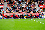 Stoke City 1 West Bromwich Albion 1, 24/09/2016. Bet365 Stadium, Premier League. The two dug outs at the Bet365 Stadium. Photo by Paul Thompson.