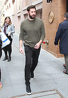 NEW YORK, NY - APRIL 12:  John Krasinski visits 'The View' and signs autographs for fans in New York, New York on April 12, 2018.  <br /> CAP/MPI/RMP<br /> &copy;RMP/MPI/Capital Pictures