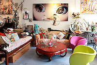 art deco living room with fairytale figures