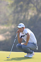 Soomin Lee (KOR) during the first round of the NBO Open played at Al Mouj Golf, Muscat, Sultanate of Oman. <br /> 15/02/2018.<br /> Picture: Golffile | Phil Inglis<br /> <br /> <br /> All photo usage must carry mandatory copyright credit (&copy; Golffile | Phil Inglis)