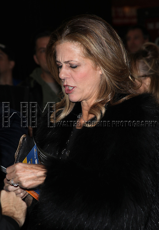 Rita Wilson.arriving for the Opening Night Performance of the Broadway Revival of 'Godspell' at Circle in the Square Theatre in New York City.
