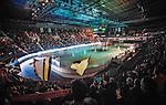 Stockholm 2014-09-11 Ishockey Hockeyallsvenskan AIK - S&ouml;dert&auml;lje SK :  <br /> Vy &ouml;ver Hovet under ett intro innan matchen mellan AIK och S&ouml;dert&auml;lje<br /> (Foto: Kenta J&ouml;nsson) Nyckelord:  AIK Gnaget Hockeyallsvenskan Allsvenskan Hovet Johanneshovs Isstadion S&ouml;dert&auml;lje SK SSK supporter fans publik supporters inomhus interi&ouml;r interior